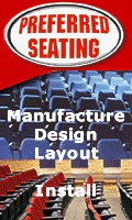 Manufacturer of Theater Seating, Auditorium and Stadium Seating, Design, Layout and Install